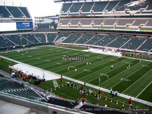 Seat view from club section 5 at Lincoln Financial Field, home of the Philadelphia Eagles