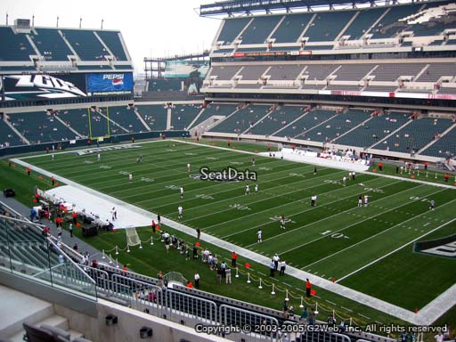 Seat view from club section 6 at Lincoln Financial Field, home of the Philadelphia Eagles