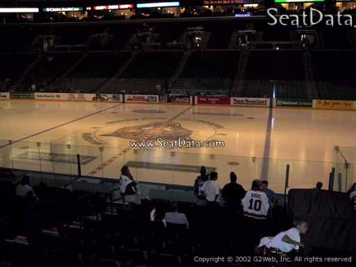 Seat view from section 134 at the BB&T Center, home of the Florida Panthers