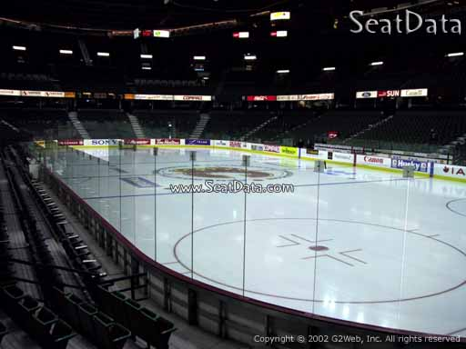 Seat view from section 102 at Scotiabank Saddledome, home of the Calgary Flames