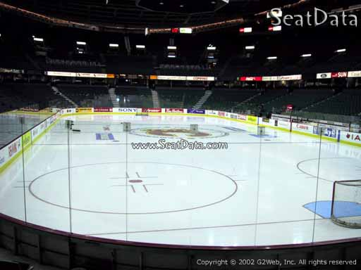 Seat view from section 103 at Scotiabank Saddledome, home of the Calgary Flames