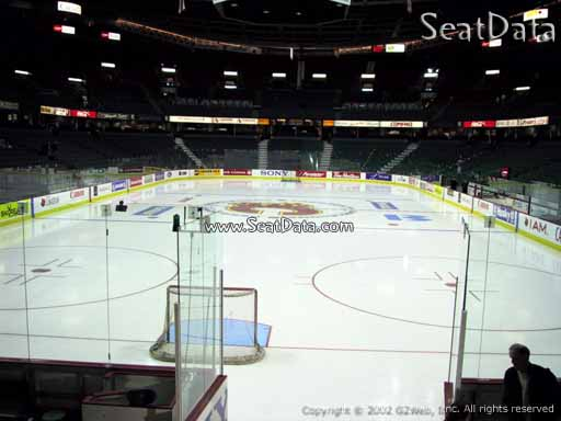 Seat view from section 104 at Scotiabank Saddledome, home of the Calgary Flames