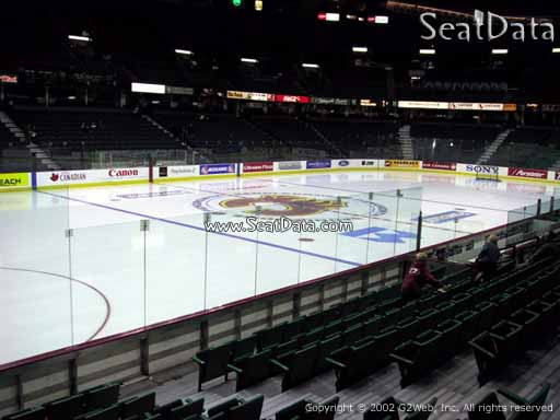 Seat view from section 107 at Scotiabank Saddledome, home of the Calgary Flames
