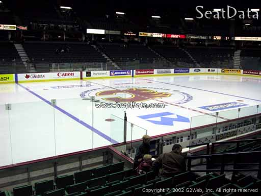 Seat view from section 108 at Scotiabank Saddledome, home of the Calgary Flames