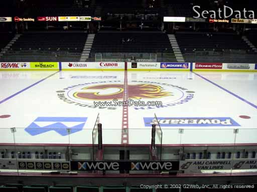 Seat view from section 109 at Scotiabank Saddledome, home of the Calgary Flames
