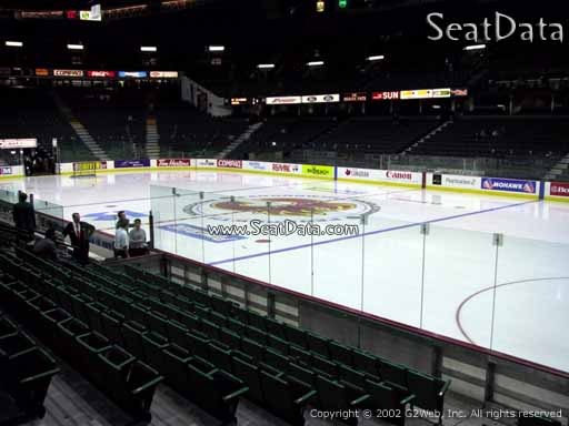Seat view from section 111 at Scotiabank Saddledome, home of the Calgary Flames