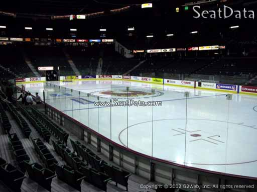Seat view from section 112 at Scotiabank Saddledome, home of the Calgary Flames