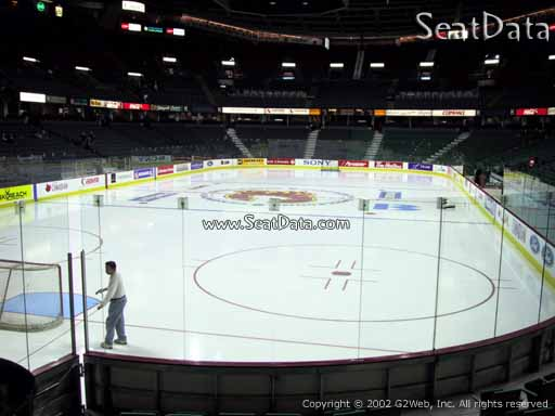 Seat view from section 116 at Scotiabank Saddledome, home of the Calgary Flames