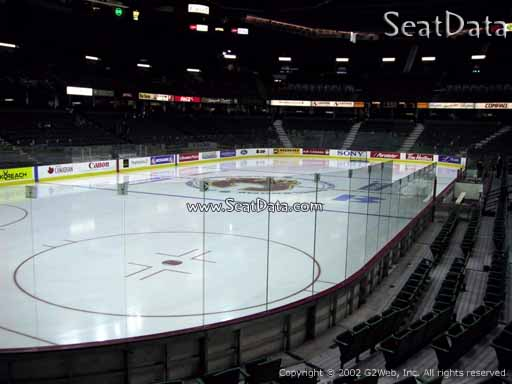 Seat view from section 117 at Scotiabank Saddledome, home of the Calgary Flames