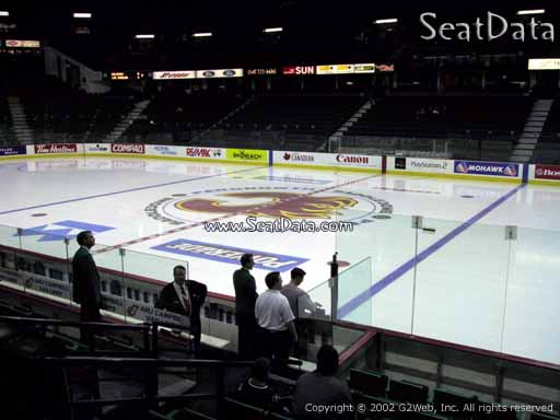 Seat view from section 121 at Scotiabank Saddledome, home of the Calgary Flames