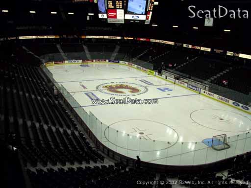 Seat view from section 203 at Scotiabank Saddledome, home of the Calgary Flames