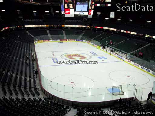 Seat view from section 204 at Scotiabank Saddledome, home of the Calgary Flames