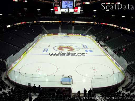 Seat view from section 205 at Scotiabank Saddledome, home of the Calgary Flames