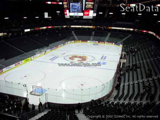 Seat view from section 206 at Scotiabank Saddledome, home of the Calgary Flames