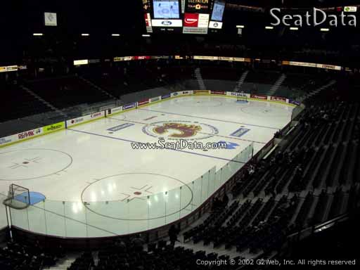 Seat view from section 207 at Scotiabank Saddledome, home of the Calgary Flames