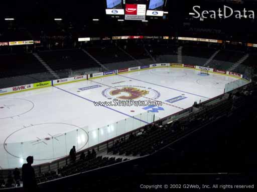 Seat view from section 209 at Scotiabank Saddledome, home of the Calgary Flames