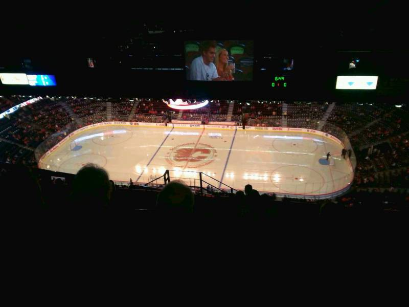 Seat view from press level section 2 at Scotiabank Saddledome, home of the Calgary Flames