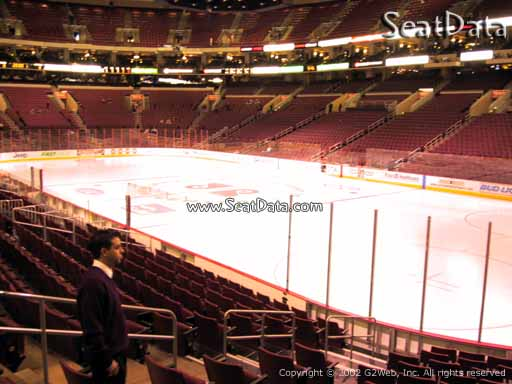 Seat view from section 104 at the Wells Fargo Center, home of the Philadelphia Flyers