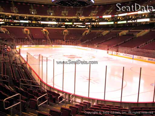 Seat view from section 105 at the Wells Fargo Center, home of the Philadelphia Flyers