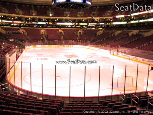 Seat view from section 106 at the Wells Fargo Center, home of the Philadelphia Flyers