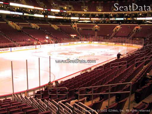 Seat view from section 110 at the Wells Fargo Center, home of the Philadelphia Flyers