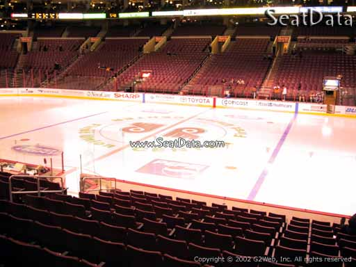 Seat view from section 114 at the Wells Fargo Center, home of the Philadelphia Flyers
