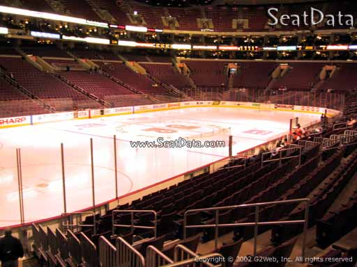 Seat view from section 122 at the Wells Fargo Center, home of the Philadelphia Flyers
