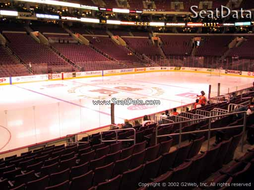 Seat view from section 123 at the Wells Fargo Center, home of the Philadelphia Flyers