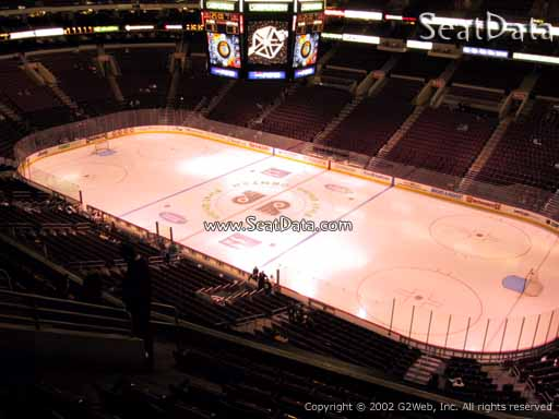 Seat view from section 204 at the Wells Fargo Center, home of the Philadelphia Flyers