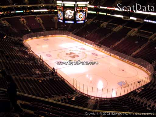 Seat view from section 205 at the Wells Fargo Center, home of the Philadelphia Flyers