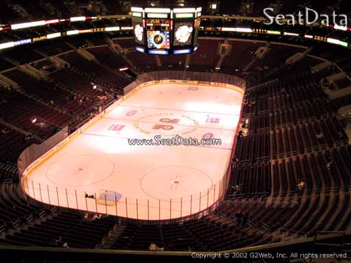Seat view from section 208 at the Wells Fargo Center, home of the Philadelphia Flyers