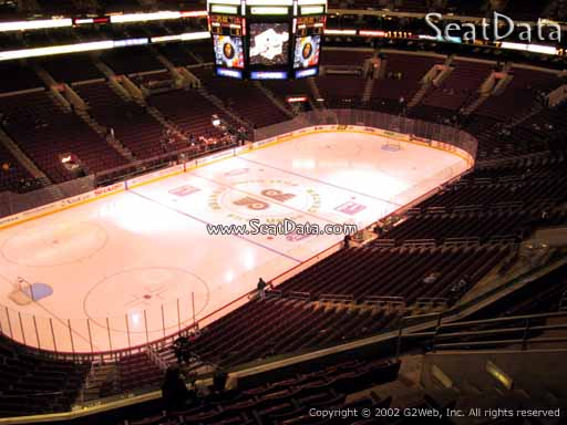 Seat view from section 210 at the Wells Fargo Center, home of the Philadelphia Flyers