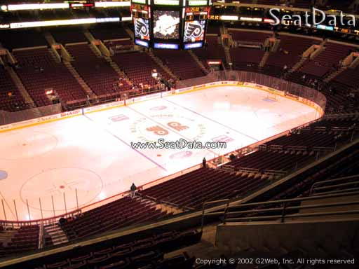 Seat view from section 210A at the Wells Fargo Center, home of the Philadelphia Flyers