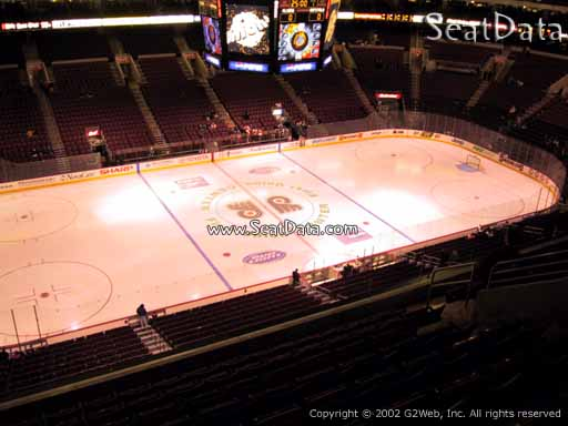 Seat view from section 211 at the Wells Fargo Center, home of the Philadelphia Flyers