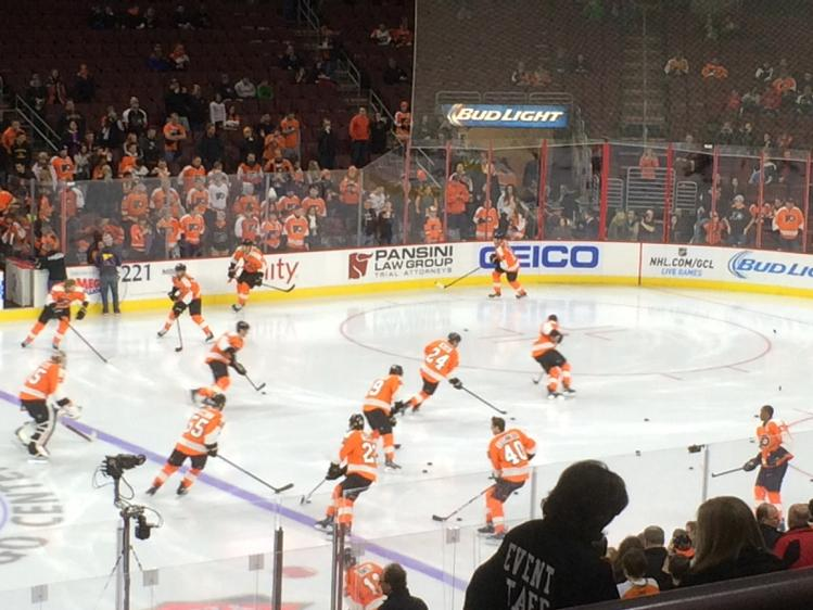 Seat view from Club Box 12 at the Wells Fargo Center, home of the Philadelphia Flyers