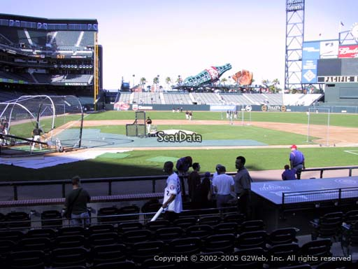 Seat view from section 110 at AT&T Park, home of the San Francisco Giants