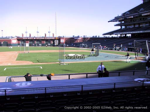 Seat view from section 123 at AT&T Park, home of the San Francisco Giants
