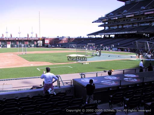 Seat view from section 124 at Oracle Park, home of the San Francisco Giants