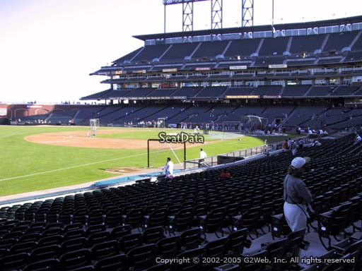Seat view from section 129 at AT&T Park, home of the San Francisco Giants