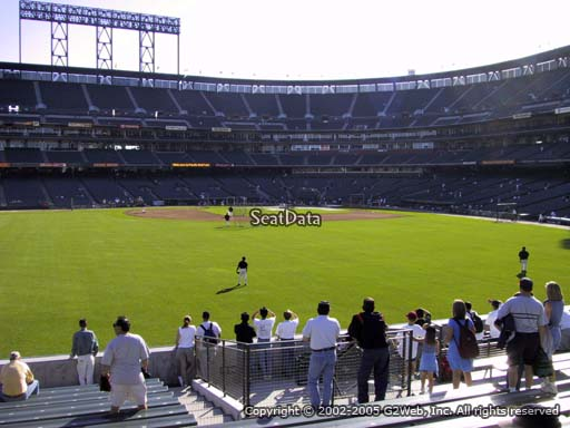 Seat view from bleacher section 140 at AT&T Park, home of the San Francisco Giants