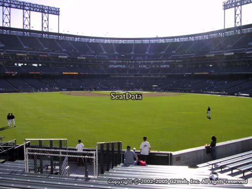 Seat view from bleacher section 142 at Oracle Park, home of the San Francisco Giants