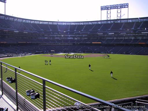 Seat view from section 145 at AT&T Park, home of the San Francisco Giants