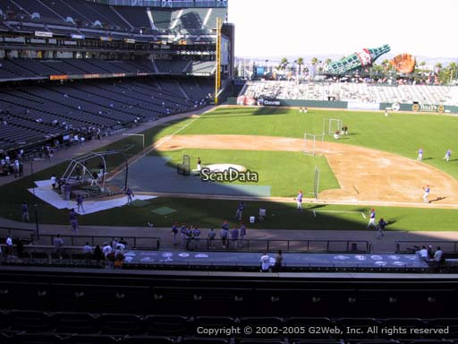 Seat view from section 209 at AT&T Park, home of the San Francisco Giants