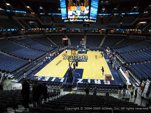 Seat view from section 101 at Fedex Forum, home of the Memphis Grizzlies.