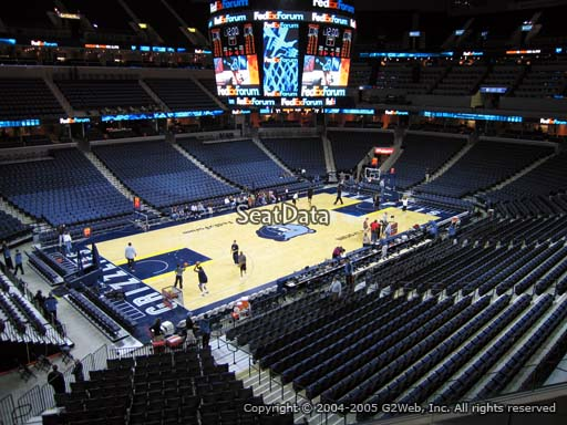 Seat view from section 103A at Fedex Forum, home of the Memphis Grizzlies.