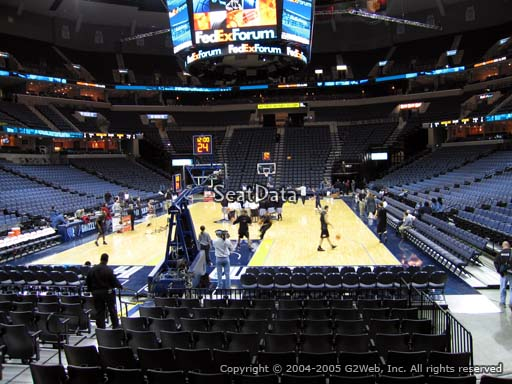 Seat view from section 110 at Fedex Forum, home of the Memphis Grizzlies.