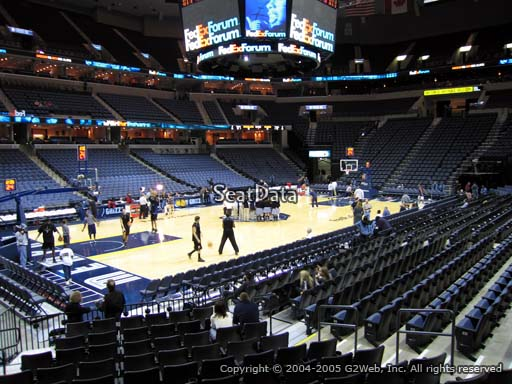 Seat view from section 112 at Fedex Forum, home of the Memphis Grizzlies.