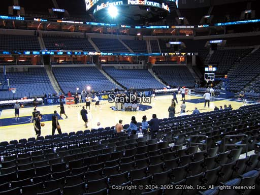 Seat view from section 113 at Fedex Forum, home of the Memphis Grizzlies.