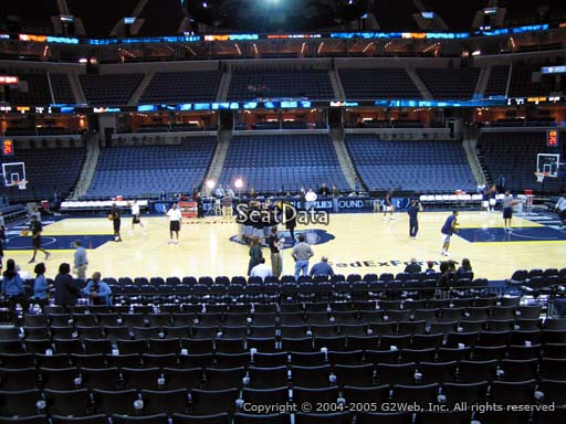 Seat view from section 114 at Fedex Forum, home of the Memphis Grizzlies.