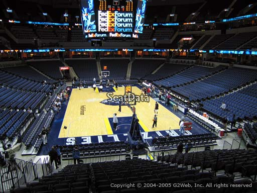 Seat view from section 118 at Fedex Forum, home of the Memphis Grizzlies.